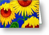 Cards Gallery Greeting Cards - Sun Lovers Greeting Card by John  Nolan