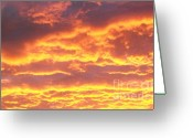 Storm Prints Photo Greeting Cards - Sun On The Clouds Greeting Card by Marsha Heiken