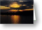 Huisken Greeting Cards - Sun Rays Over Solivita Greeting Card by Lyle  Huisken