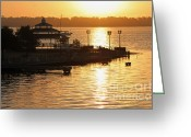 Point Park Greeting Cards - Sun Rising Greeting Card by Suzanne Gaff
