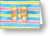 Sun Prints Greeting Cards - Sun Shoes Greeting Card by Catherine Martha Holmes
