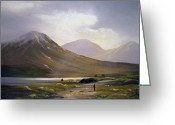 Co Galway Greeting Cards - Sun Showers Greeting Card by Cathal O malley