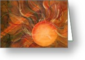 Solar Eclipse Greeting Cards - Sun Spot Greeting Card by Dan Earle