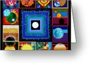 Flares Greeting Cards - Sun Spots Greeting Card by John Lautermilch