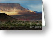 Utah Weather Greeting Cards - Sunbreaks at Sunset Greeting Card by Sandra Bronstein