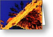 Designers Choice Digital Art Greeting Cards - Sunburst II Greeting Card by Don  Wright