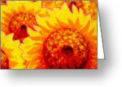 Artist Studio Greeting Cards - Sunburst Greeting Card by John  Nolan