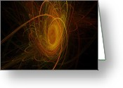 New Age Art Greeting Cards - Sunburst Greeting Card by Michael Durst