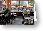 Donuts Greeting Cards - Sunday Afternoon at Dunkin Donuts Greeting Card by Sarah Loft