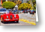 British Classic Cars Greeting Cards - Sunday Drive . 7D15939 Greeting Card by Wingsdomain Art and Photography