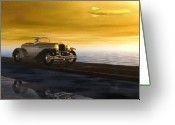 Sunrise Mixed Media Greeting Cards - Sunday Drive Greeting Card by Bob Orsillo