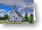 Church Photos Greeting Cards - Sunday Go to Meeting Church Greeting Card by Ken Smith