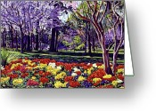 Most Greeting Cards - Sunday In the Park Greeting Card by David Lloyd Glover