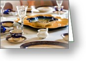 Oldfashioned Greeting Cards - Sunday Lunch With Grandma Greeting Card by Carolyn Marshall