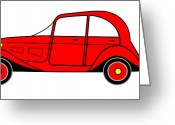 Asbjorn Lonvig Greeting Cards - Sunday Picnic  - Virtual Car Greeting Card by Asbjorn Lonvig