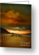 Tara Turner Greeting Cards - Sunday Storm Clouds Greeting Card by Tara Turner