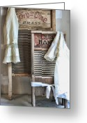 Wash Board Greeting Cards - Sundays Best Greeting Card by Marcie Adams Eastmans Studio Photography