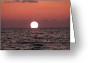 Florida Sunset Greeting Cards - Sundown at Dunedin Greeting Card by Bill Cannon