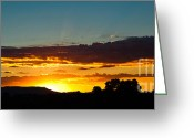 Oceania Greeting Cards - Sundown Silhouette Greeting Card by John Buxton
