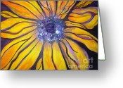 Sarasota Mixed Media Greeting Cards - Sunflower Greeting Card by Anita Wexler