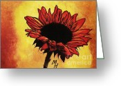 Dk Brown Greeting Cards - Sunflower Passion Greeting Card by Marsha Heiken