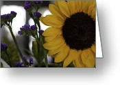 Flower Show Greeting Cards - Sunflower right Greeting Card by Kevin  Sherf