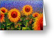 Still Life Greeting Card Greeting Cards - SunFlower Scape Greeting Card by John  Nolan