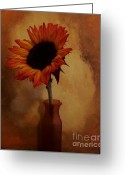 Wrap...floral Greeting Cards - Sunflower Seed Maker Greeting Card by Marsha Heiken