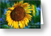 Trish Greeting Cards - Sunflower Seed Greeting Card by Trish Clark
