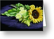 Bright Pastels Greeting Cards - Sunflower Greeting Card by Vanda Luddy