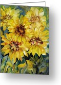 Carolyn Legrand Greeting Cards - Sunflowers Greeting Card by Carolyn LeGrand