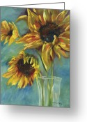 Sunny Painting Greeting Cards - Sunflowers Greeting Card by Chris Brandley