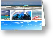 Florida Beaches Greeting Cards - Sunglasses needed in Paradise Greeting Card by Susanne Van Hulst
