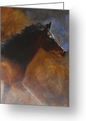 Wild Horse Painting Greeting Cards - Sunhorse Greeting Card by Jack Atkins