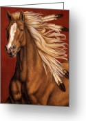 Mane Greeting Cards - Sunhorse Greeting Card by Pat Erickson