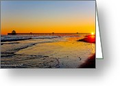 Bonnes Eyes Fine Art Photography Greeting Cards - SunKissed Pier Greeting Card by Bonnes Eyes Fine Art Photography