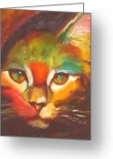 Kitten Greeting Card Greeting Cards - Sunkist Greeting Card by Susan A Becker