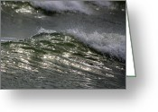 Myrtle Beach South Carolina Greeting Cards - Sunlight and Waves 1 Greeting Card by Teresa Mucha