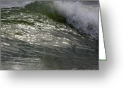 Myrtle Beach South Carolina Greeting Cards - Sunlight and Waves 2 Greeting Card by Teresa Mucha