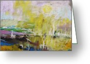 Abstract Card Pastels Greeting Cards - Sunlight  Greeting Card by John  Williams