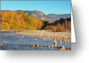 Saco River Greeting Cards - Sunlight on the Saco Greeting Card by Geoffrey Bolte