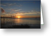 Sunset Posters Greeting Cards - Sunnset Bay 64 Greeting Card by Joyce StJames