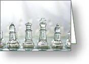 Chess Game Greeting Cards - Sunny Day on the BattleField  Greeting Card by David Paul Murray