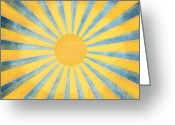 Tag Art Greeting Cards - Sunny Day Greeting Card by Setsiri Silapasuwanchai
