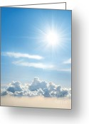 Cumulus Greeting Cards - Sunny Sky Greeting Card by Carlos Caetano