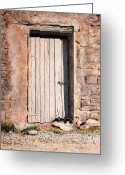 Stone Pastels Greeting Cards - Sunny Spot For Sammy Greeting Card by Colleen Quinn
