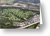 Aerials Greeting Cards - Sunnybrook Golf Club Golf Course Greeting Card by Duncan Pearson