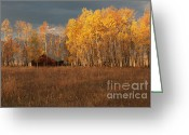 Dramatic Light Greeting Cards - Sunrise and Storms - Grand Tetons Greeting Card by Sandra Bronstein