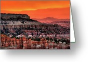 Bryce Canyon Greeting Cards - Sunrise At Bryce Canyon Greeting Card by Photography Aubrey Stoll