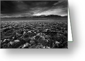 Arid Climate Greeting Cards - Sunrise At Devils Golf Course, Death Valley, Deat Greeting Card by David Kiene